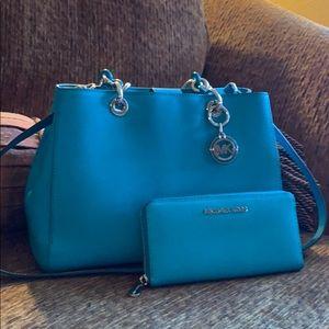 Michael Kors Teal Handbag